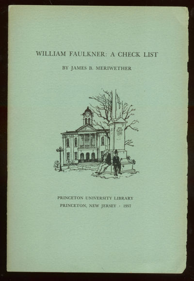 Princeton: Princeton University Library, 1957. Softcover. Fine. First edition. Stapled wrappers. Ver...