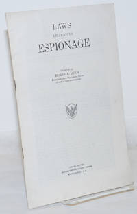 image of Laws Relating to Espionage