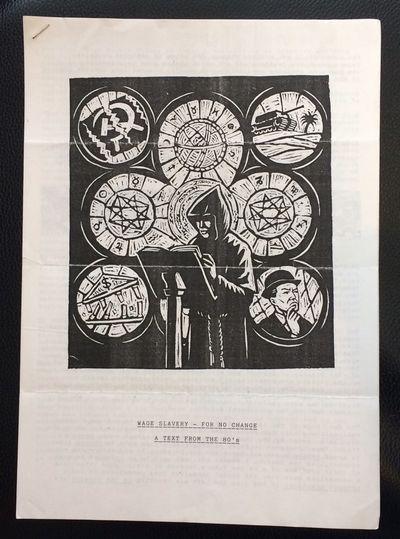 Hastings, East Sussex: Year Minus One Press, 1992. 5p., 8.25x11.5 inch packet stapled at corner, nea...