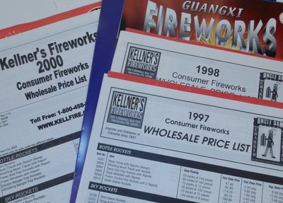 Harrisville, PA: Kellner's Fireworks, 2000. Wraps. Near Fine. 8 1/2 x 11 inches. A group of wholesal...