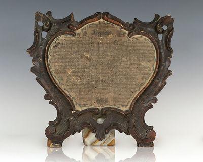 Germany, c. 1780. Rare late 18th century liturgical broadside. Printed broadside mounted on a decora...