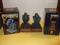 Stephen Hickman CTHULHU statue  - # 190 and # 449 ( TWO STATUES, perfect as bookends for an H P Lovecraft book collection )( book-ends _( Cthulhu Mythos / Elder Gods )