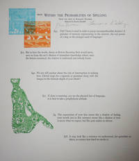 image of From Within The Probabilities of Spelling (Signed Poetry Broadside)