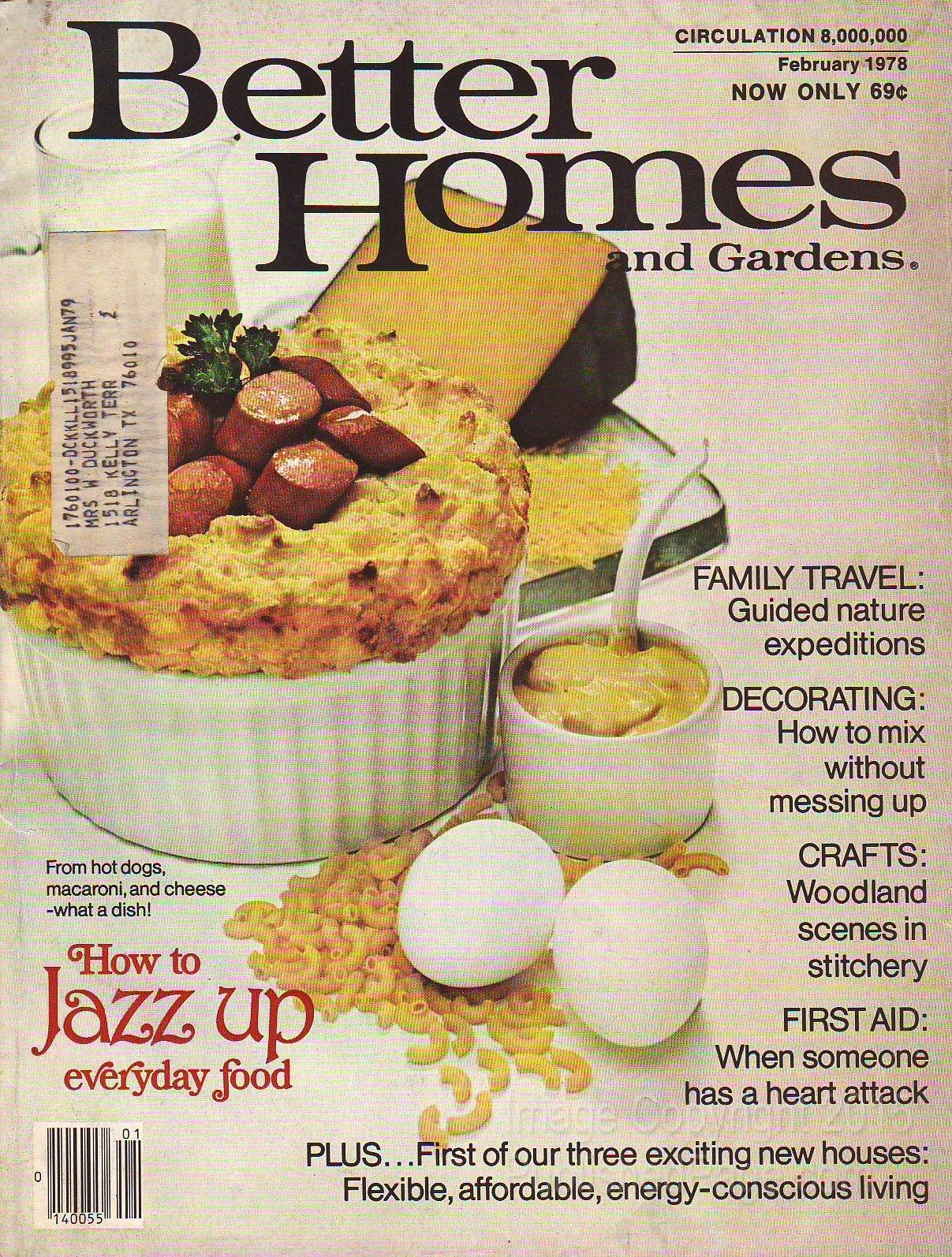 Better Homes And Gardens 1978 February By James A