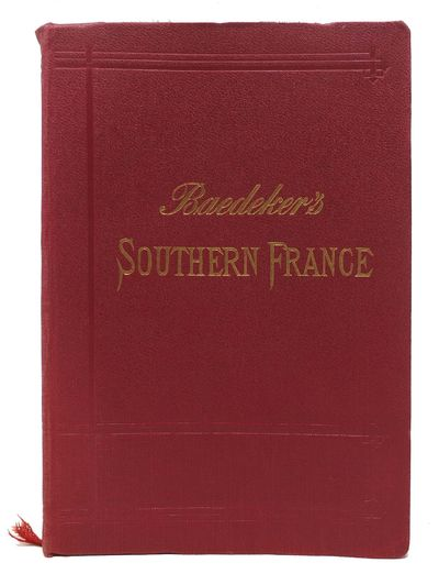 Leipsic: Karl Baedeker, Publisher, 1907. 5th Edition. Red cloth wrapped flexible boards, gilt letter...