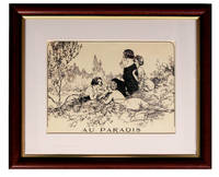 image of Au Paradis. Matted and Framed Print of Illustration from La Vie Parisienne, Numero de Samedi 9 Fevrier 1924. Chéri Herouard, Gerda Wegener, Maurice Milliere, or Pierre Brissaud