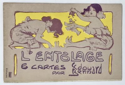 1905. Cards. Color illustrated cards. Near fine, in near fine wrappers. Six - 13.75 x 8.75 color ill...