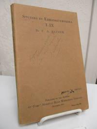 Studies in Edrioasteroidea I-IX.