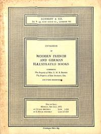 Sale 3 July 1972: Catalogue of Modern French and German Illustrated Books.