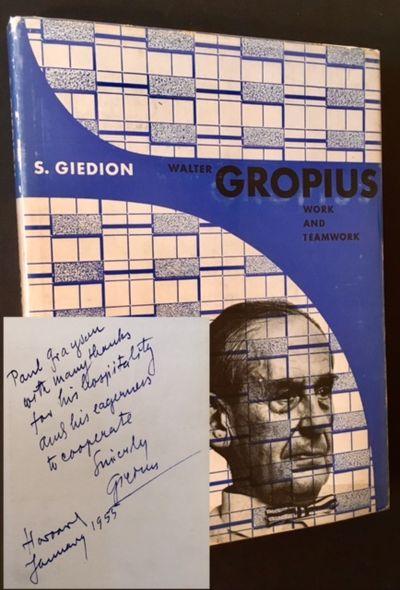 New York: Reinhold Publishing Co, 1954. Cloth. Very Good +/Near Fine. WARMLY INSCRIBED BY WALTER GRO...