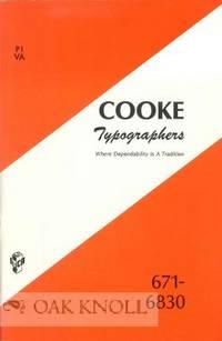 COOKE TYPOGRAPHERS