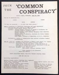 image of Join the 'Common Conspiracy.' Boston Common, Wednesday, July 10, 1968. The day of sentencing for: Coffin, Spock, Goodman, Ferber.