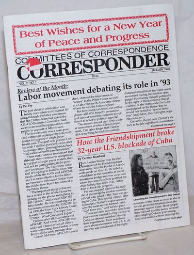 New York: Committees of Correspondence, 1993. Magazine. One issues, 20pp., wraps., 8.5x11 inches, il...