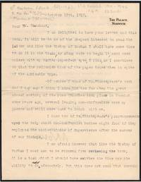 Group of 9 Typed Letter Signed to the Revd. (Sir) James Marchant, 1867-1956, (Bertram, 1863-1943, Bp. of Norwich 1910-1942)