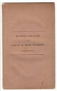History and laws of the library of Brown University [wrapper title]. Preface to the catalogue of the library of Brown University, with the laws of the library by  Charles C.] [Jewett - First Edition - 1843 - from Rulon-Miller Books (SKU: 56324)