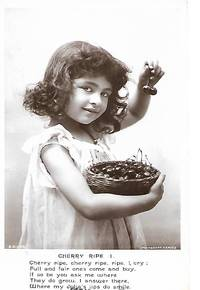Cherry Ripe (1) - Cute Little Girl with Bowl of Cherries