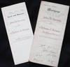 2 mortgage documents involving John K. Cuming, Alphonse A. Brunner, and a brick house at 1736 Grove St., Philadelphia
