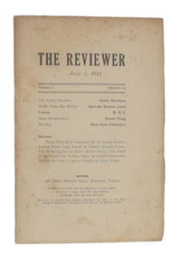 image of THE REVIEWER: July 1, 1921 (Volume 1, Number 10)