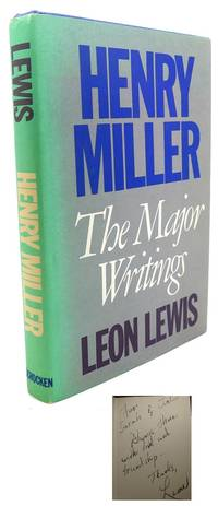 HENRY MILLER :  Signed 1st by Leon Lewis - Signed First Edition - 1986 - from Rare Book Cellar (SKU: 95695)