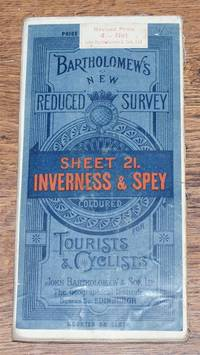 Inverness and Spey - Bartholomew's New Reduced Survey of Scotland, Sheet 21, Half-Inch to Mile, Coloured for Tourists and Cyclists