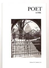 image of POET LORE A 2ND CENTURY OF NEW WRITING VOLUME 98 NUMBER 3/4 FALL/WINTER  2003