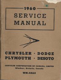 1960 Service Manual: Chrysler, Dodge, Plymouth, DeSoto