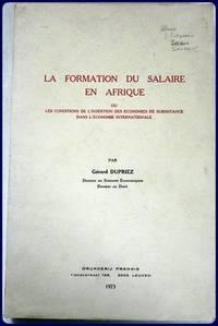 LA FORMATION DU SALAIRE EN AFRIQUE.