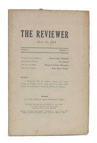 image of THE REVIEWER: July 15, 1921 (Volume 1, Number 11)