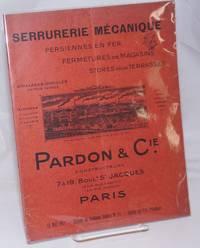 image of Serrurerie Mecanique. Persiennes en Fer, Fermetures de Magasains, Stores pour Terrasses. Grillages ondules en tous genres