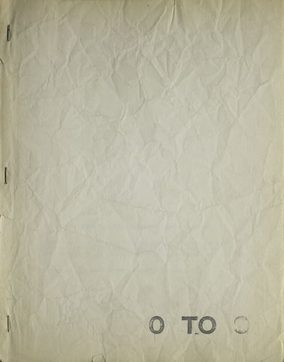 New York: , 1969. First edition. , 96 pp. mimeograph. 4to. Publisher's side-stapled paper wrappers, ...
