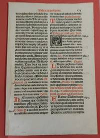 Early Printed leaf from a Missale Romanum