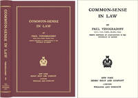 Common Sense in Law