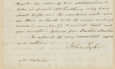 22/05/1843. John Tyler Our first presidential letter about the Webster-Ashburton Treaty, which settl...