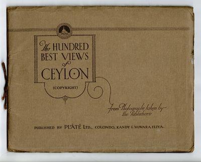 Colombo, Kandy & Nuwara Eliya: Plâté Limited, n.d., 1930. Oblong 4to, p. ; string-bound; photo...