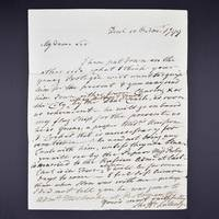 A collection of four manuscript letters addressed to Sir Robert Bateson Harvey