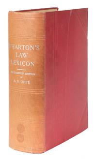 Wharton's Law Lexicon. 14th. ed. London, 1938