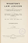 View Image 2 of 2 for Wharton's Law Lexicon. 14th. ed. London, 1938 Inventory #71907