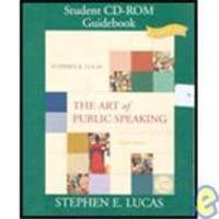 The Art of Public Speaking: Student CD-ROM Guidebook (CD and Book) by Stephen E. Lucas - 2004-02-08 - from Books Express and Biblio.com