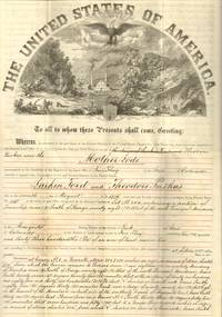 Mining Claim Certificate of Larkin Ford and Theodore Puskas, Park County,  Colorado