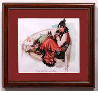 image of Reigning Cats and Dogs.  Matted and Framed Print of Nell Hatt Illustration from Puck Magazine, March 20, 1915 Issue