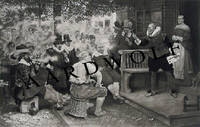 "image of 1880 Etching Of New York's Historic ""Smokers' Rebellion"""