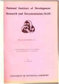 a CONSOLIDATED CHECKLIST OF THESES AND DISSERTATIONS ON BOTSWANA