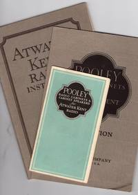 1920s Radio and Phonograph Trade Brochures: Four on Pooley Radio Cabinets for Atwater Kent