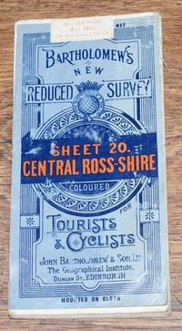 Central Ross and Cromarty - Bartholomew's New Reduced Survey of Scotland, Sheet 20, Half-Inch to Mile, Coloured for Tourists and Cyclists