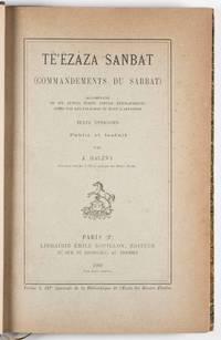 Te'ezaza Sanbat (Commandements du Sabbat), accompagné de six autres écrits pseudo- épigraphiques admis par les Falachas ou Juifs d'Abyssinie. Texte éthiopien
