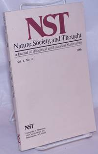 image of Nature, Society and Thought NST A Journal Of Dialectical And Historical Materialism 1988, Volume 1, Number 2