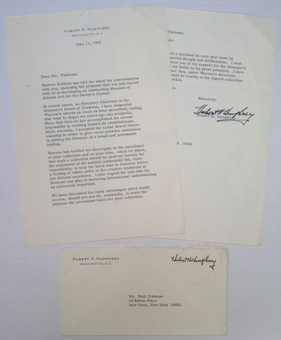 Washington, D.C., 1969. unbound. 2 pages on personal embossed stationery, 10.5 x 7.25 inches, with o...