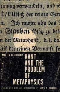 image of Kant and the Problem of Metaphysics.