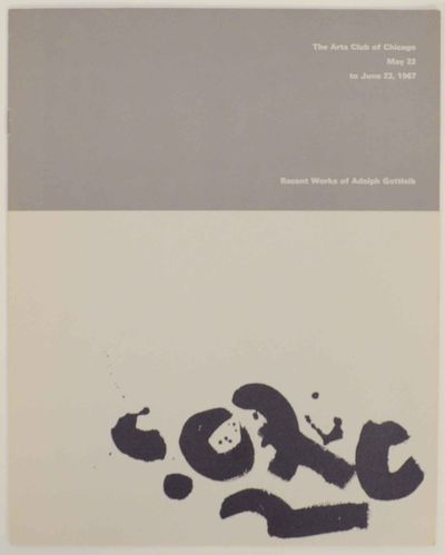 Chicago, IL: The Arts Club of Chicago, 1967. First edition. Softcover. 8 pages. Exhibition catalog f...