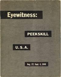 Eyewitness: Peekskill U.S.A. Aug. 27; Sept. 4, 1949